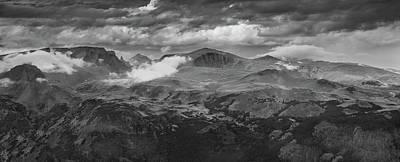 Beartooth Mountain Range Photograph - Beartooth Mountains Wyoming B W by Steve Gadomski