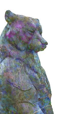 Lovable Digital Art - Beary Bear by Pamela Williams