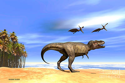 Triassic Painting - Beast by Corey Ford