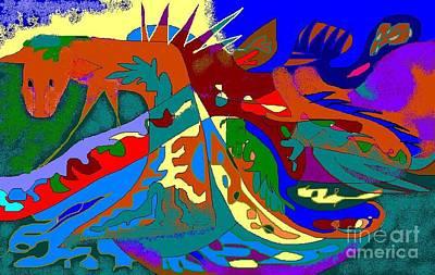 Beast In Colorful Coat Art Print by Beebe  Barksdale-Bruner