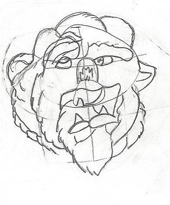 Beauty And The Beast Drawing - Beast by Mikayla Bonds