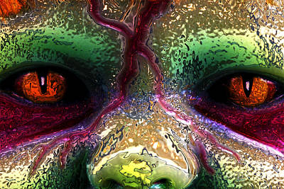 Digital Art - Beast Eyes by John Rizzuto