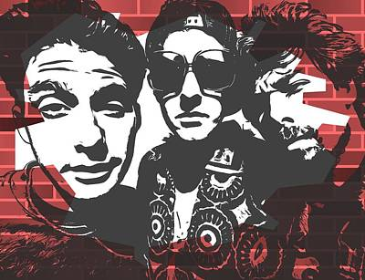 Musicians Digital Art Rights Managed Images - Beastie Boys Graffiti Tribute Royalty-Free Image by Dan Sproul