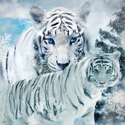 Animals Digital Art - Beastly Buddies by Lourry Legarde