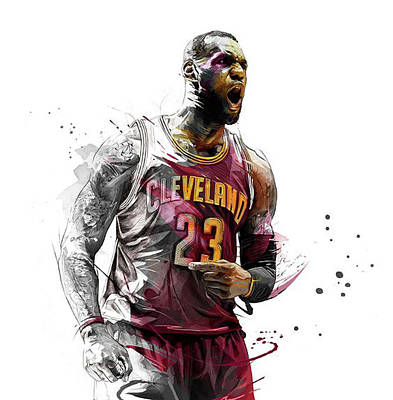Lebron James Drawing - Beastmode by Jeric Barnutz