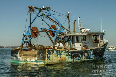 Photograph - Beat Up Fishing Boat by Claudia M Photography
