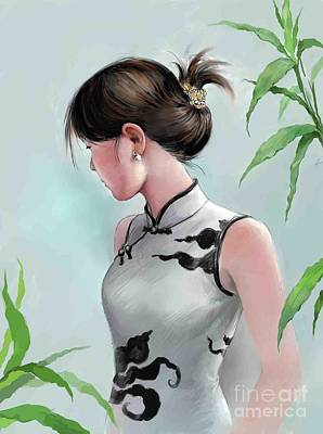 Painting - Beatiful Dress by Jieming Wang