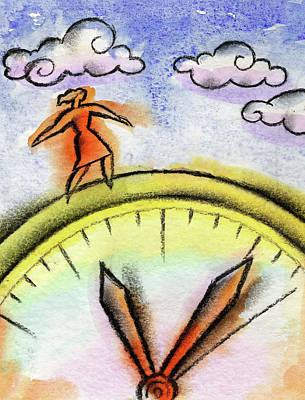 Balancing Painting - Beating The Clock by Leon Zernitsky