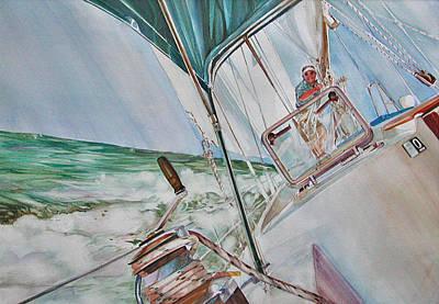 Painting - Beating Windward by P Anthony Visco