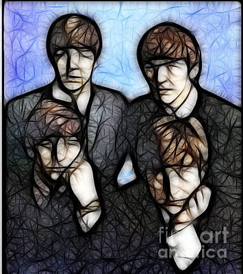 Digital Art - Beatle Art 02 by Stephen Mitchell