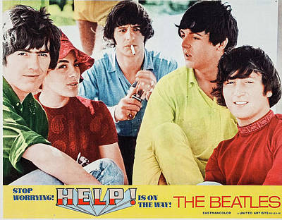 Beatle Poster From Help Art Print