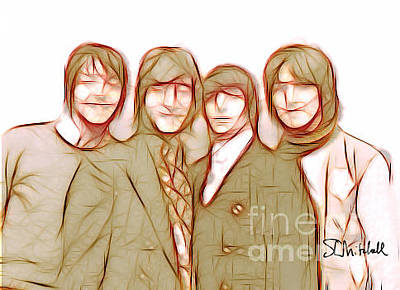 Digital Art - Beatles '68 by Stephen Mitchell