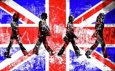 Mccartney Digital Art - Beatles - Abbey Road - Pop Art by William Cuccio aka WCSmack