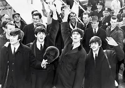 Ringo Digital Art - Beatles Arrive In New York  1964 by Daniel Hagerman