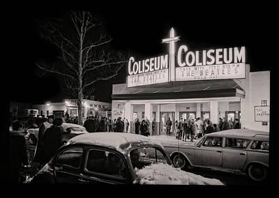 Photograph - Beatles At The Washington Coliseum 1964 - Remastered by Carlos Diaz