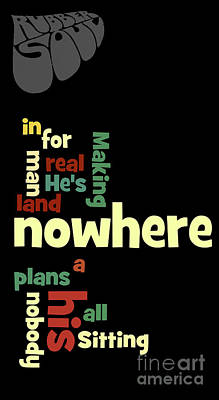 The Beatles Digital Art - Beatles, Can You Guess The Name Of The Song? Nowhere... by Pablo Franchi