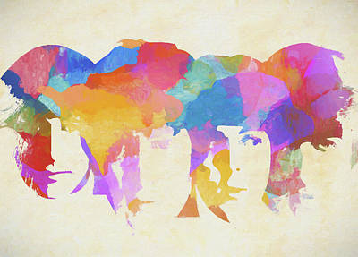 Painting - Beatles Colorful Abstract by Dan Sproul
