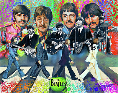 Digital Art - Beatles Fan Art by Dave Luebbert
