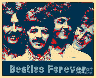 Digital Art - Beatles Forever by stephen Mitchell