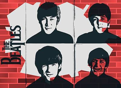 Beatles Graffiti Tribute Art Print by Dan Sproul