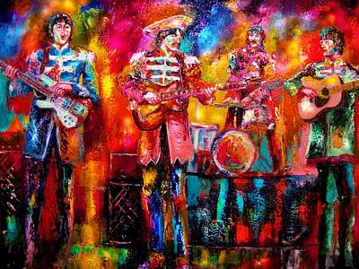 Beatles Hello Goodbye Art Print by Leland Castro