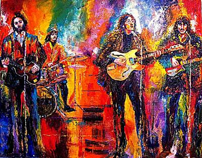 Beatles Last Concert On The Roof Print by Leland Castro