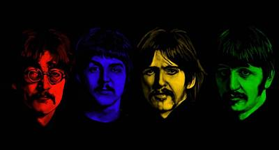 Beatles Digital Art - Beatles No 9 by Brian Broadway