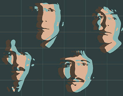 Mccartney Mixed Media - Beatles Pop Art Tiles by Dan Sproul