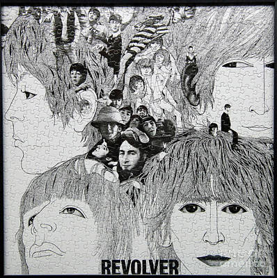 Fab Four Photograph - Beatles Revolver Puzzle by Steve Gass