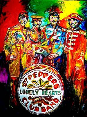Ringo Painting - Beatles Sgt. Pepper by Leland Castro