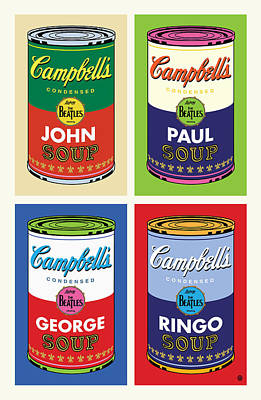 Beatles Soup Art Print by Gary Grayson