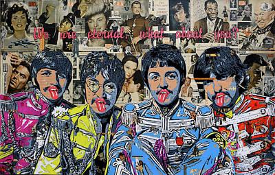 Sgt Pepper Beatles Painting - Beatles by Stanislav Belovski