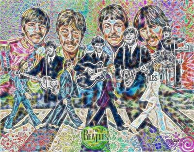Painting - Beatles Tapestry by Dave Luebbert