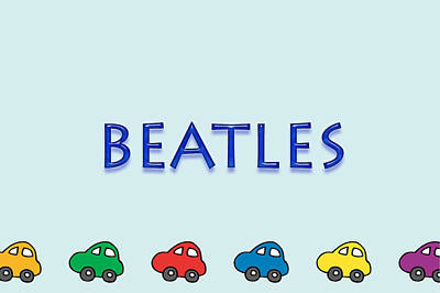 Beatles Art Print by Tina M Wenger