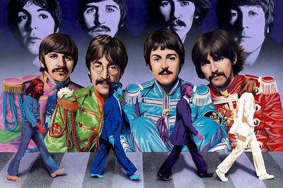 Ringo Star Painting - Beatles - Walk Away by Ross Edwards