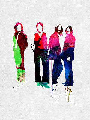 Beatles Painting - Beatles Watercolor by Naxart Studio