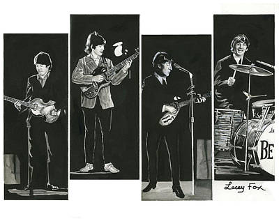 Mccartney Mixed Media - Beatles With Instruments by Lacey Fox