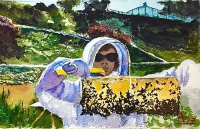 Beekeeper Painting - Beatrice by Anthony Zecca