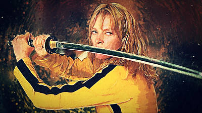 Tarantino Digital Art - Beatrix Kiddo - Kill Bill by Taylan Apukovska