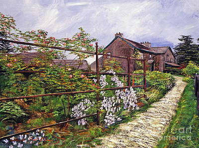 Pathways Painting - Beatrix Potter House by David Lloyd Glover
