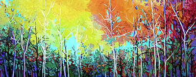Wall Art - Painting - Beatton Park Trails  by Alison Newth