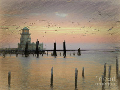 Photograph - Beau Rivage Lighthouse And Marina by Scott Cameron