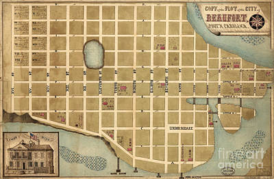 Photograph - Beaufort Map by Dale Powell