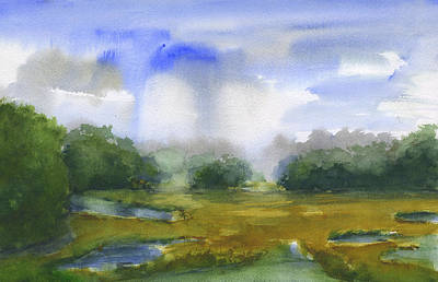 Painting - Beaufort Marsh by Frank Bright
