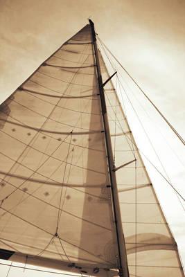 Beaufort Sails 1 Art Print by Alan Hausenflock