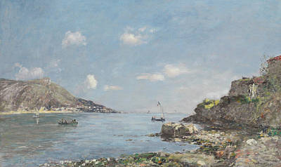Rocky Beach Painting - Beaulieu, La Baie Des Fourmis, Morning Effect by Eugene Louis Boudin