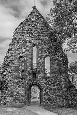 Photograph - Beauly Priory 0897 Bw by Teresa Wilson