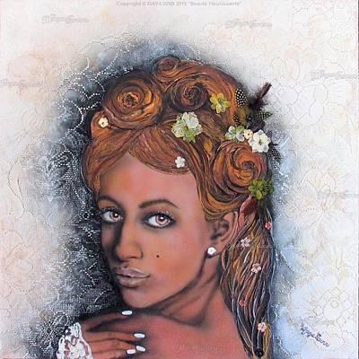 Plume Mixed Media - Beaute Fleurissante Blooming Beauty by MayaSunn