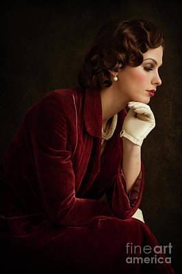 Photograph - Beautiful 1920s Woman by Lee Avison