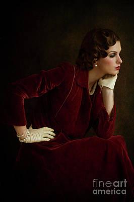 Photograph - Beautiful 1930s Woman by Lee Avison